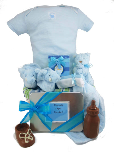 Chocolate Baby Boy Gift Basket