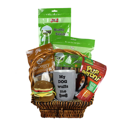 My Dog Wuffs Me Gift Basket