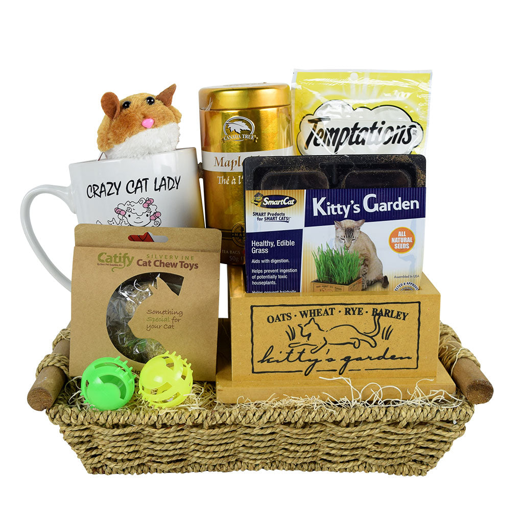 The Crazy Cat Lady Gift Basket Cat Gift Basket Mutts Mousers