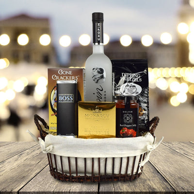 The Good Spirits Gourmet Gift Basket
