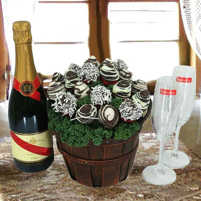 Champagne & Chocolate Bouquet