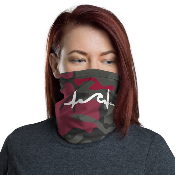 Red Camo Fat SurfBeat Face Mask