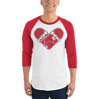 Heartbreak 3/4 sleeve raglan shirt