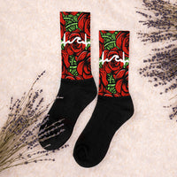 Roses Calf High Socks