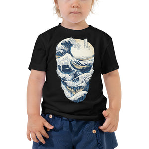 Wave Off Skull Toddler Tee