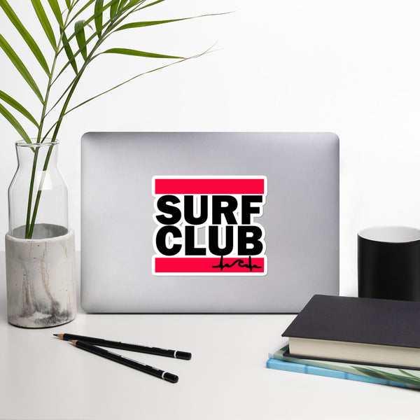 Surf Club DMC Bubble-free stickers
