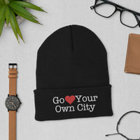 Go Heart Your Own City Beanie Winter Hat