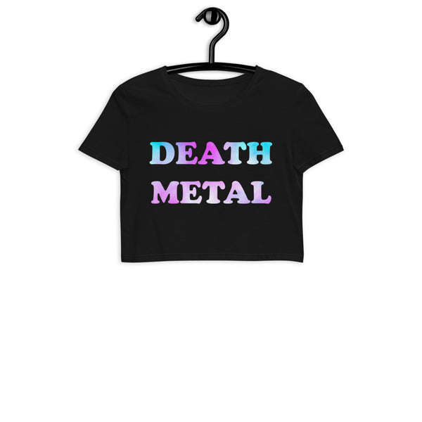 Death Metal Organic Crop Top