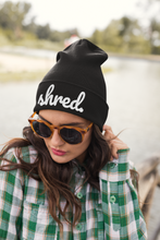 Shred. Black Winter Knit Beanie