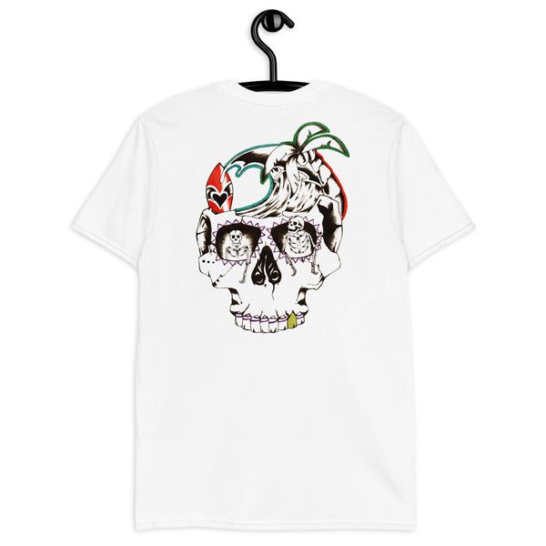 Skull Beach by Alex Borelli Unisex T-Shirt