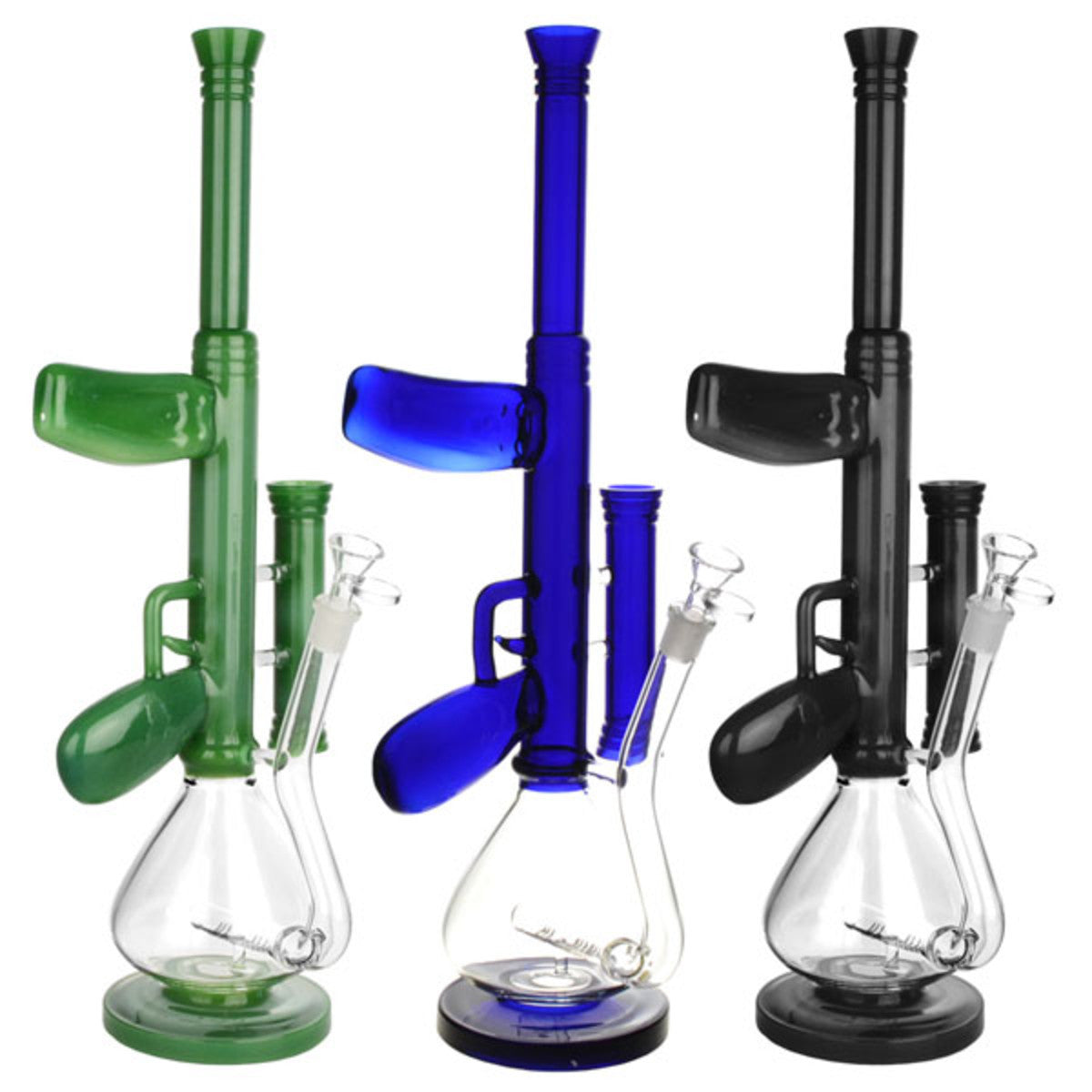 AK-47 Glass Bong With Inline Perc