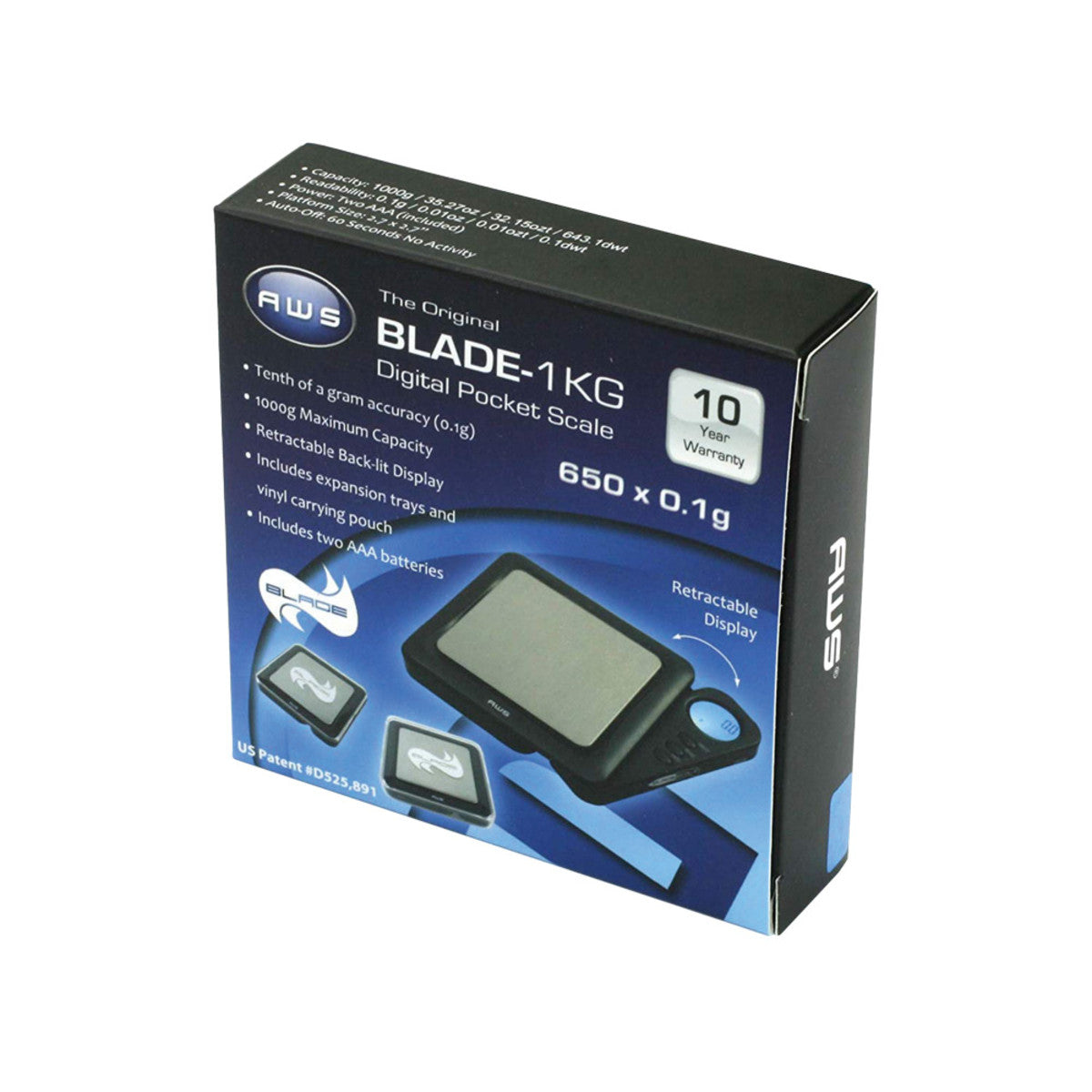 AWS Blade Style Digital Scale 1kg x.1