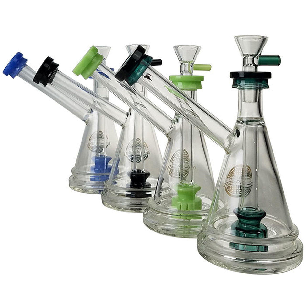 "7"" USA Color Rim Bubbler Water Pipe"