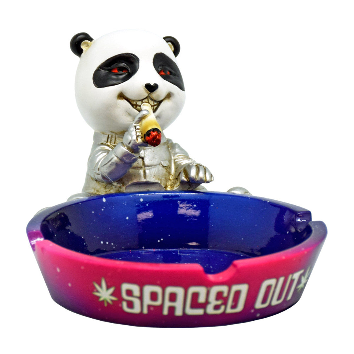 Spaced out panda panda panda ashtray