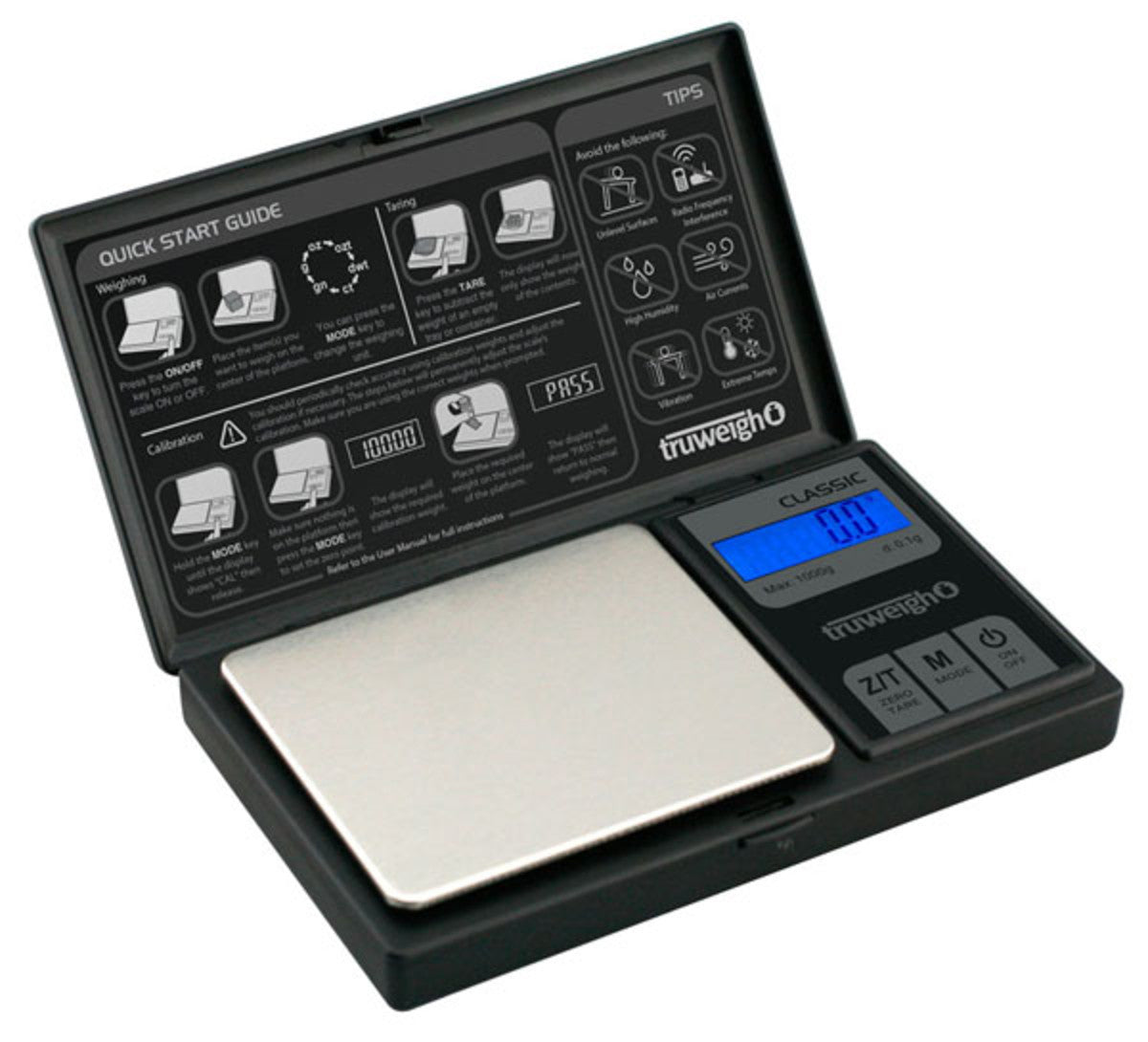 Truweigh Classic Digital Mini Scale - 1000g x 0.1g / Black