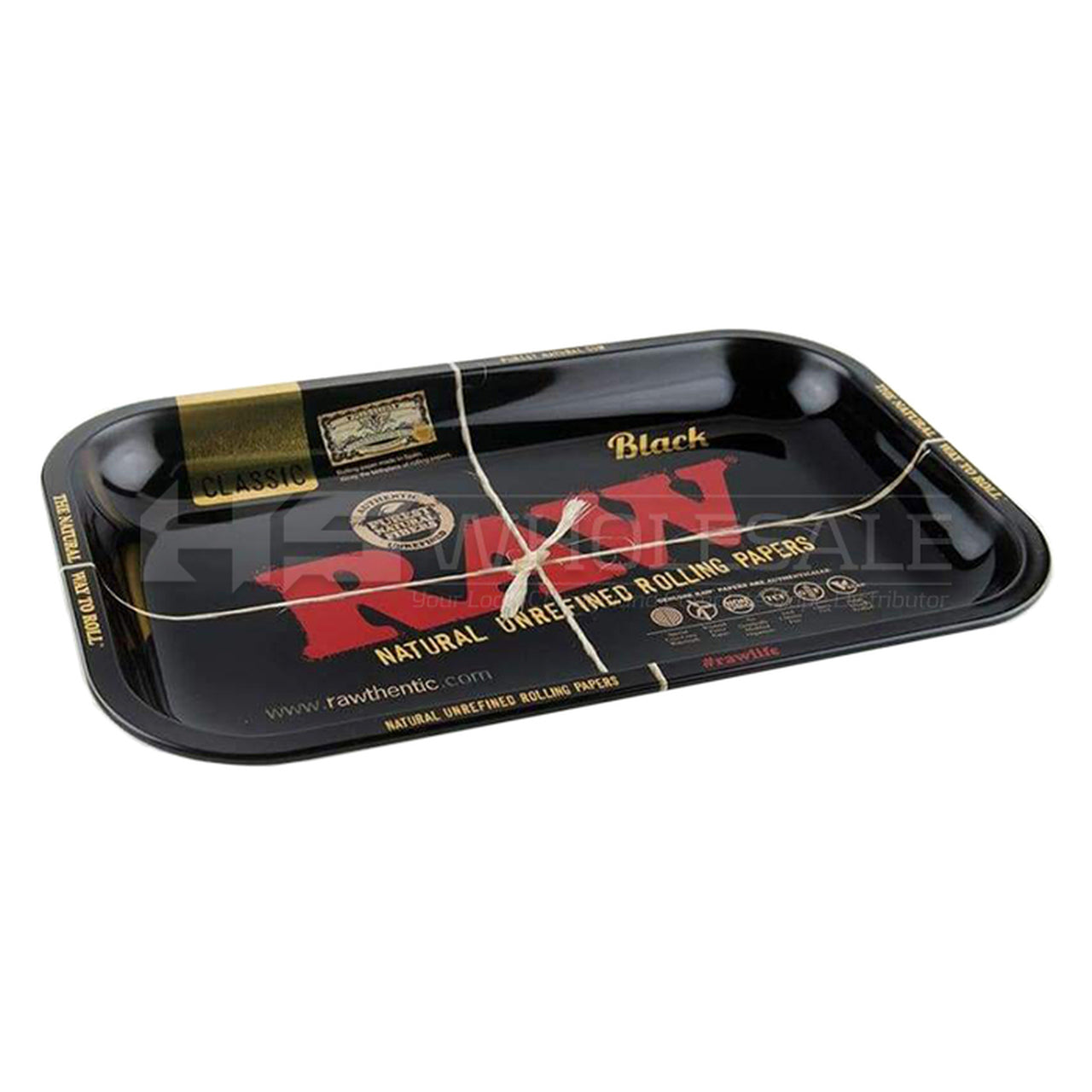 RAW - Black Metal Rolling Tray - Small