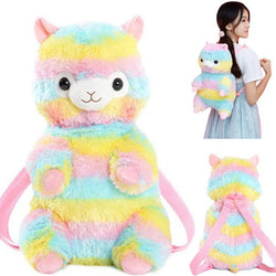 Rainbow Alpaca Backpack