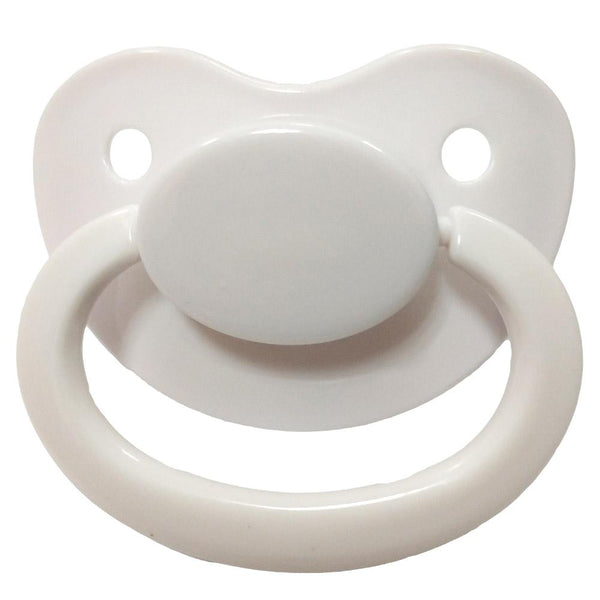 white adult pacifier paci binkie soother mouth guard nipple autism autistic little space ddlg cgl abdl cglre age regression agere