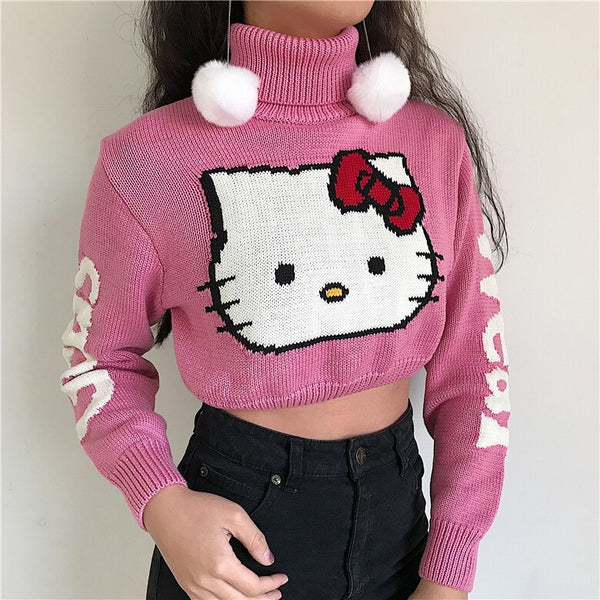 Kitty Cropped Turtleneck