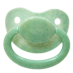 green glitter adult pacifier paci binkie soother mouth guard nipple autism autistic little space ddlg cgl abdl cglre age regression agere