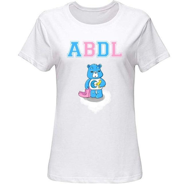 ABDL Grumpy Bear Tee - Women-White / S - shirt