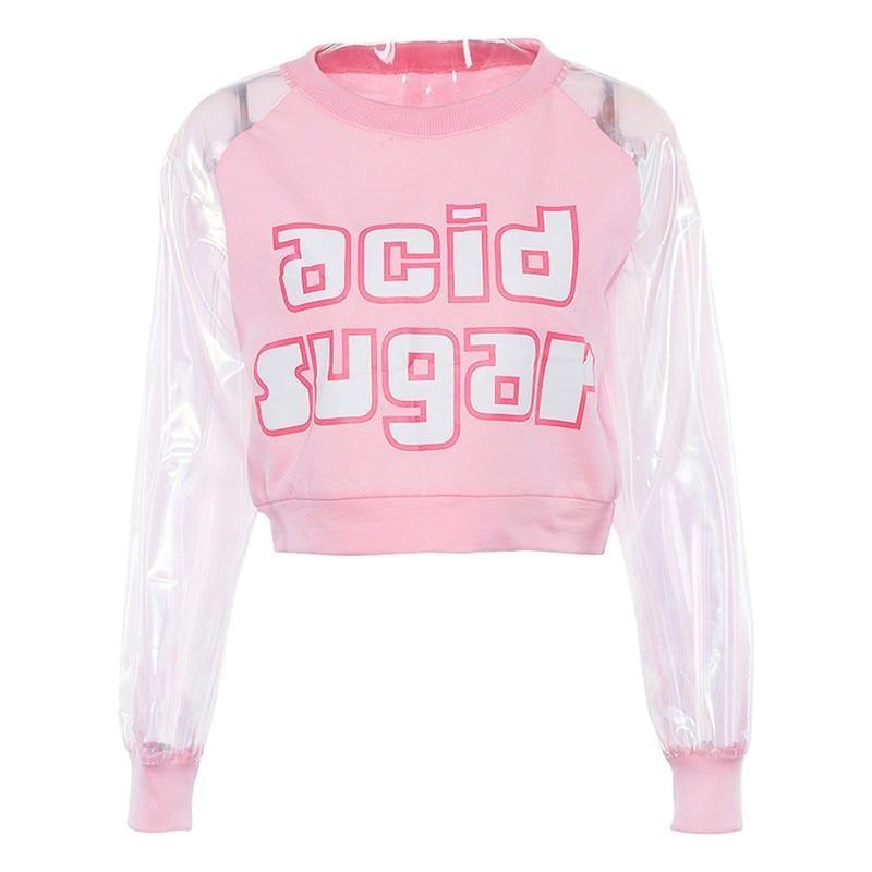 Acid Sugar Crop Top - shirt