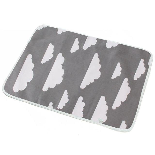 Adult Diaper Change Pads - Grey Clouds - bear,bears,change mat,change pad,changing
