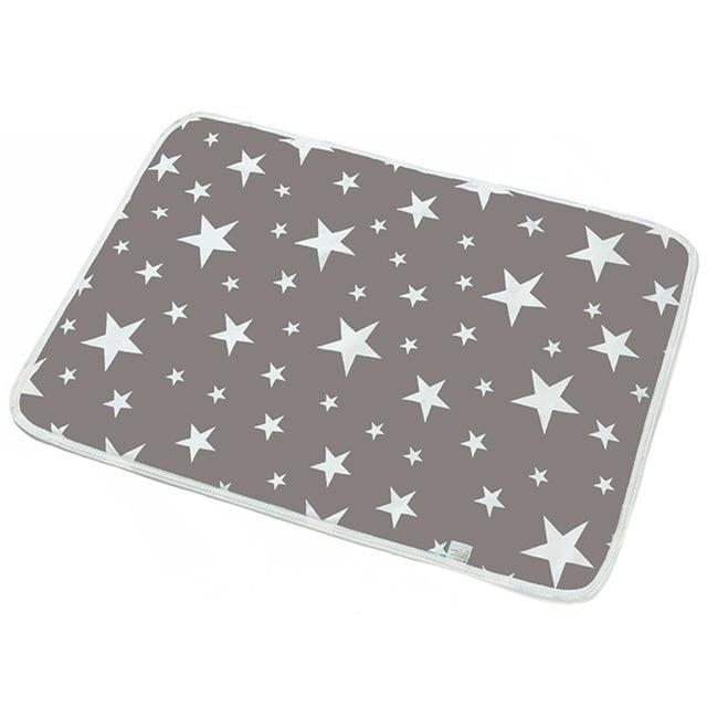 Adult Diaper Change Pads - Grey Stars - bear,bears,change mat,change pad,changing