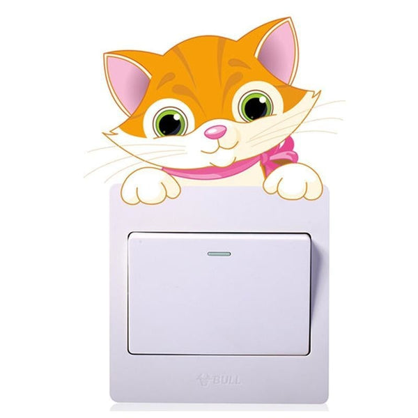 Kawaii Baby Kitten Cat Light Switch Wall Art Sticker Decals Jungle  by DDLG Playground