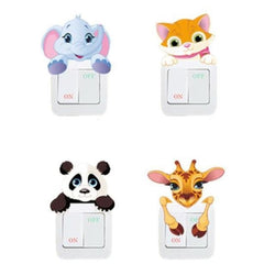 Kawaii Baby Animal Light Switch Wall Art Sticker Decals Jungle  by DDLG Playground
