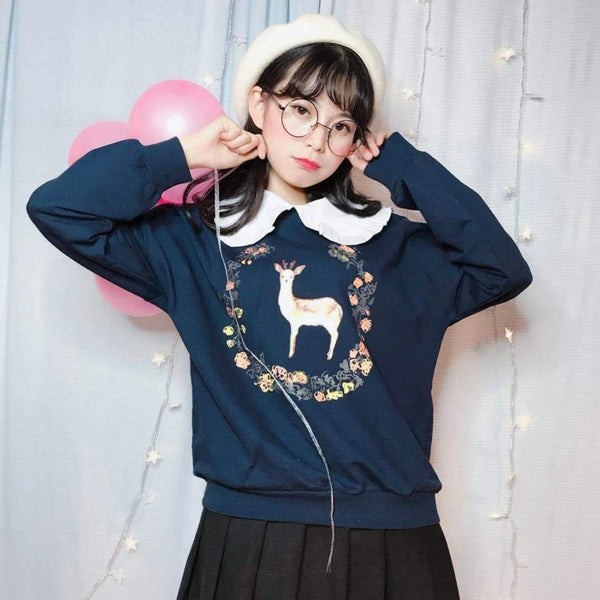 Autumn Deer Crewneck - sweater