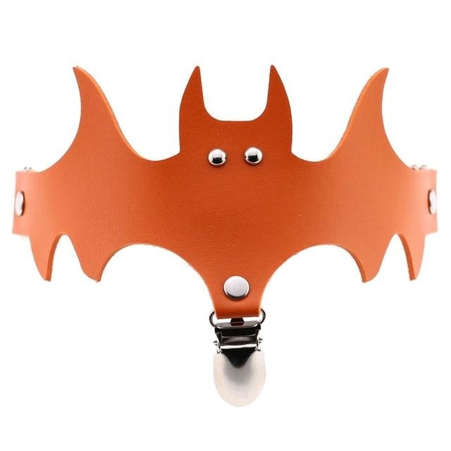 Orange Bat Garter Belt Thigh Harness Spooky Halloween Gothic