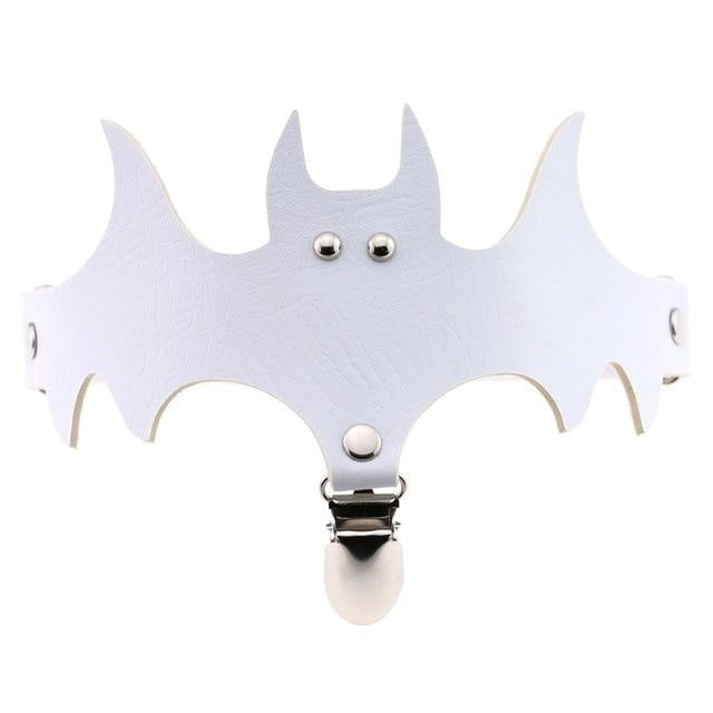 White Bat Garter Belt Thigh Harness Spooky Halloween Gothic