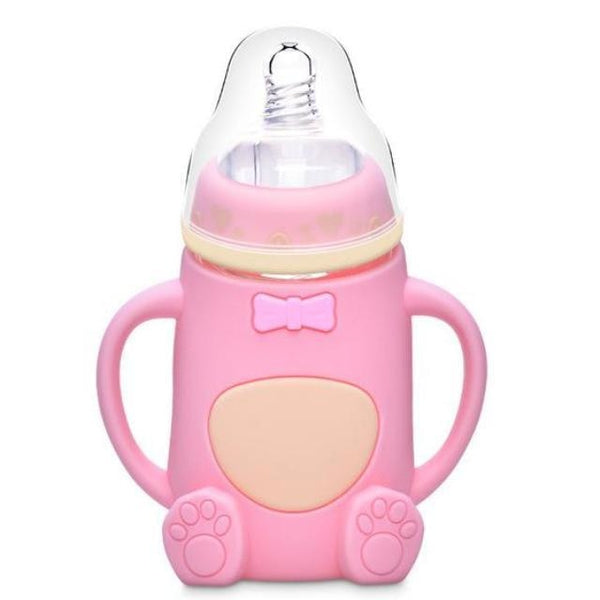 Adult Baby Bottle Pink Bear ABDL Age Play Long Teet Nipple Kinky Fetish CGL by DDLG Playground