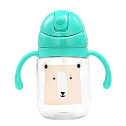 Green Teal Baby Brown Bear Sippy Cup Juice Water Bottle Drinking Glass ABDL CGL Age Play Adult Baby by DDLG Playground