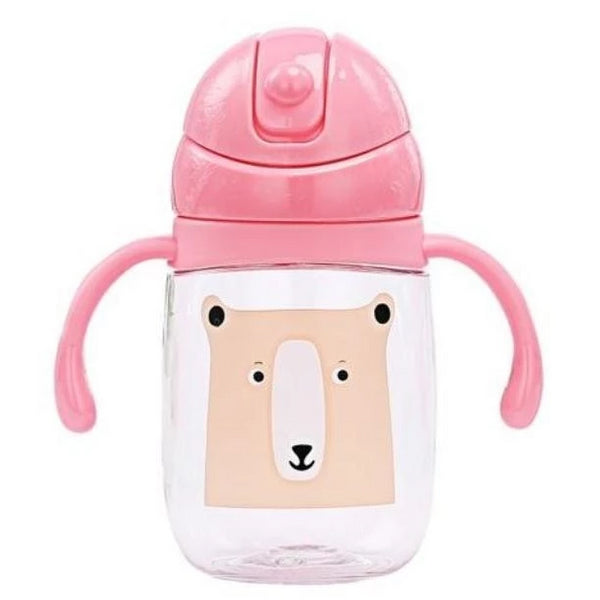 Pink Baby Brown Bear Sippy Cup Juice Water Bottle Drinking Glass ABDL CGL Age Play Adult Baby by DDLG Playground