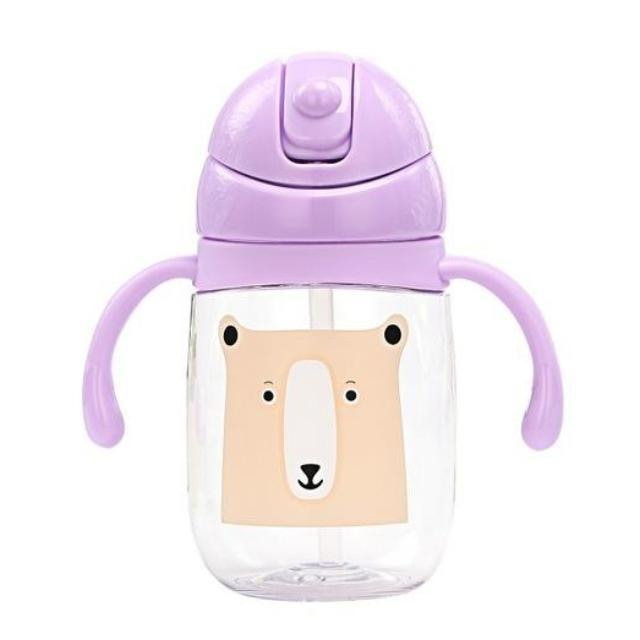 Purple Baby Brown Bear Sippy Cup Juice Water Bottle Drinking Glass ABDL CGL Age Play Adult Baby by DDLG Playground