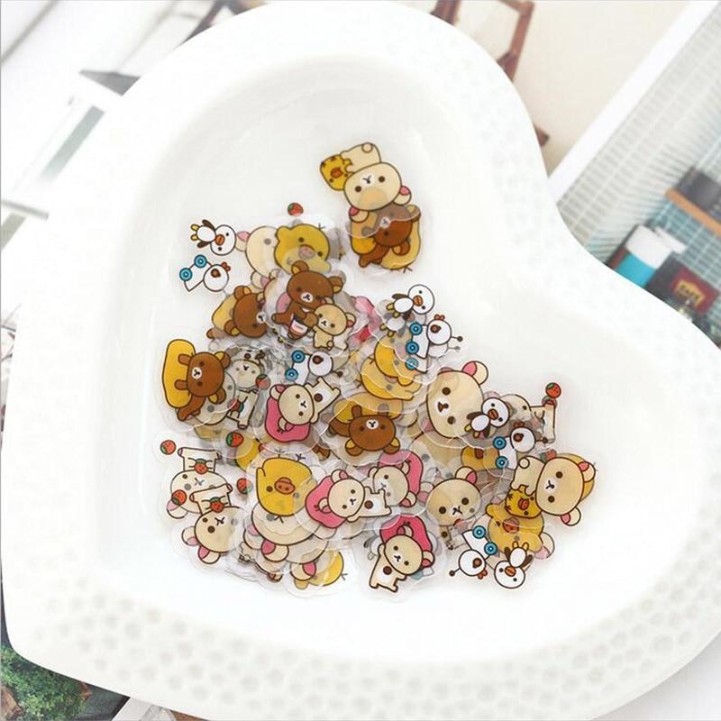 Kawaii Rilakkuma Bear Sticker Pack Cute Stickers Brown Baby Bears