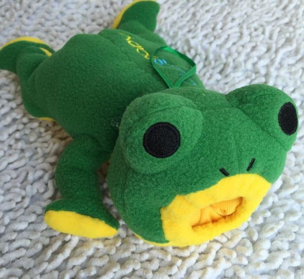 Adult Baby Bottle Holder Green Frog Stuffed Animal Thermal Bag Buddy ABDL CGL Kink Fetish by DDLG Playground