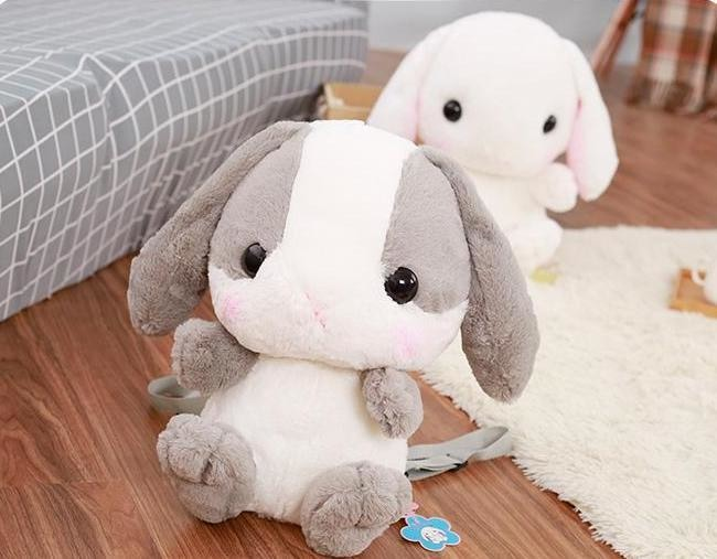 Kawaii Baby Bunny Rabbit backpack Book Bag Cute Fluffy Bun Adorable