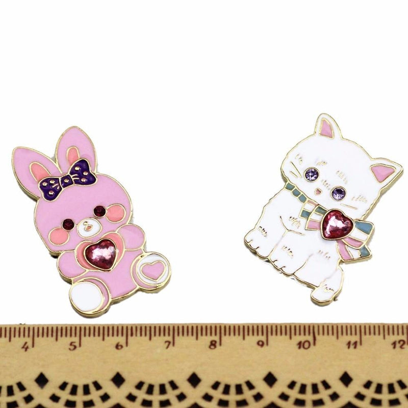Baby Bun Jewelled Enamel Pin - brooch, brooches, bunnies, bunny, enamel pins