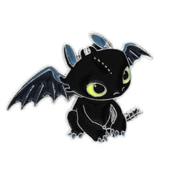 Black Baby Fury Dragon Enamel Pin Brooch How To Train Your Dragon Lapel Pins