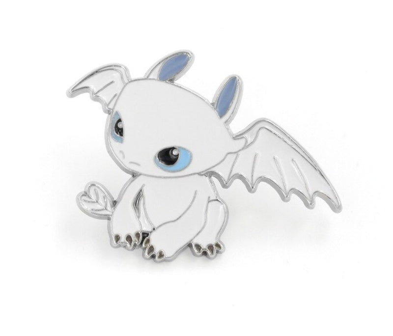 Baby Fury Pin - White Dragon - pin