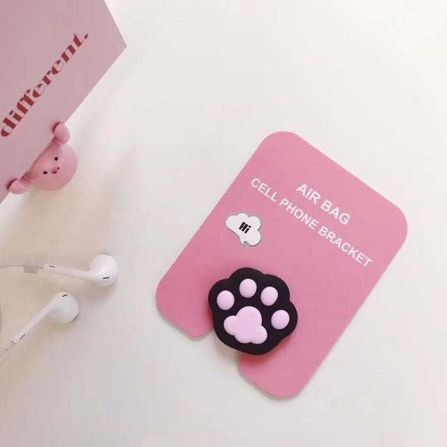 Baby Phone Finger Rings - Black Paw - phone ring