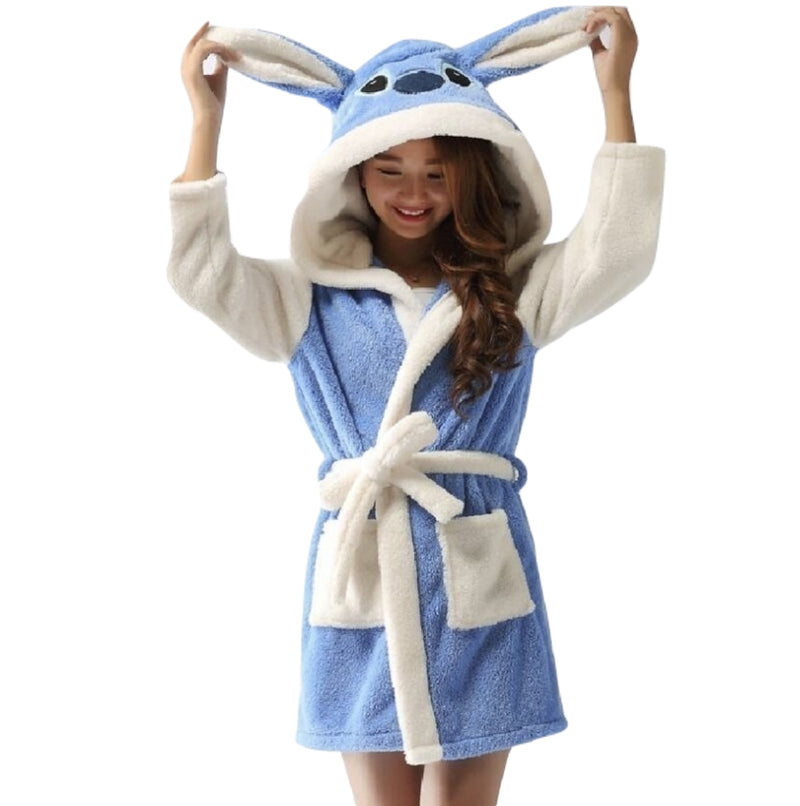 Baby Stitch Bath Robe - Shoes
