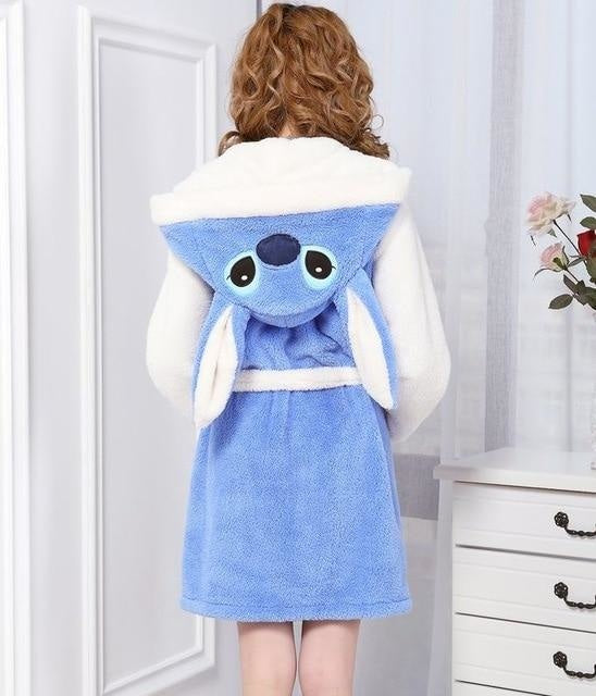 Baby Stitch Bath Robe - Blue Stitch / S - Shoes