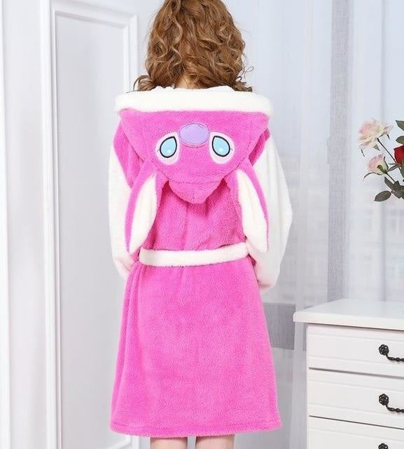 Baby Stitch Bath Robe - Pink Stitch / S - Shoes