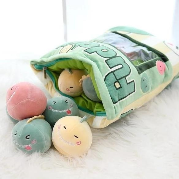 Bag Of Baby Dino Plushies - stuffed animal