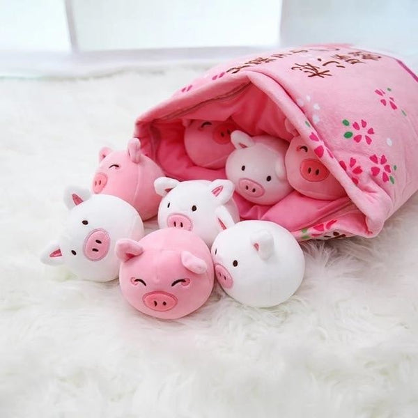 Bag of Piggy Plushies - stuffed animal