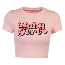 Basic Baby Girl Tee - abdl, baby girl, babygirl, crop top, tops
